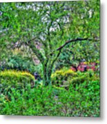 Elderly Man At St. Luke's Garden Metal Print