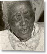 Elderly Woman Metal Print