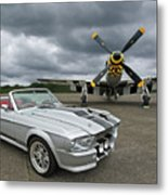 Eleanor Mustang With P51 Metal Print