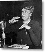 Eleanor Roosevelt At Hearing Metal Print