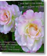 Eleanor Roosevelt Roses Metal Print