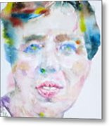 Eleanor Roosevelt - Watercolor Portrait Metal Print
