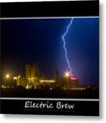 Electric Brew Poster Metal Print