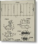 Electric Football Patent 1955 Aged Gray Metal Print