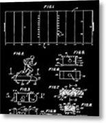 Electric Football Patent 1955 Black Metal Print