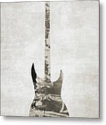 Electric Guitar Sepia Metal Print
