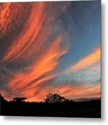 Electric Hawaiian Sunset Big Island Hawaii Metal Print