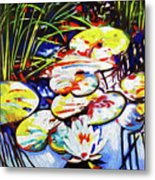 Electric Lillypads Metal Print