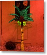 Electric Palm Tree Metal Print