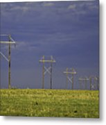 Electric Pasture Metal Print by Melany Sarafis