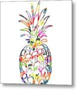 Electric Pineapple - Art by Linda Woods Metal Print