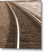 Electric Rails Metal Print