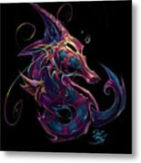 Electric Seahorse Metal Print by David Bollt