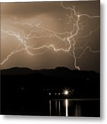 Electric Sepia Skies  Metal Print