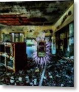 Electric Shock On Abandoned Hotel On Liguria Mountains - Pericolo Di Scossa Nell'hotel Abbandonato Metal Print