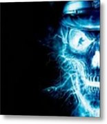 Electric Skull Metal Print