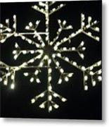 Electric Snowflake Metal Print