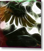 Electric Sunflower Metal Print