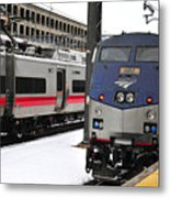 Electric Trains At Union Station Metal Print