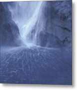 Electric Water - Milford Sound Metal Print