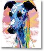 Electric Whippet Metal Print
