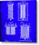 Electrical Battery Patent Drawing 1e Metal Print