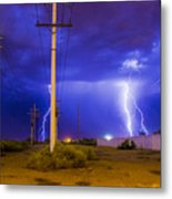 Electricity Alley Metal Print