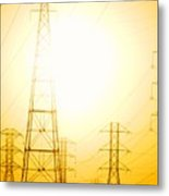 Electricity Towers Metal Print