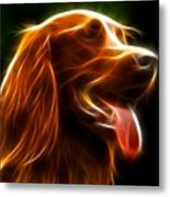 Electrifying Dog Portrait Metal Print