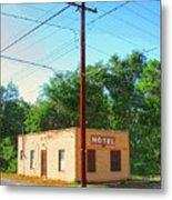 Electromagnetic Motel Metal Print
