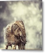 Elephant Figure Metal Print