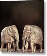 Elephant Figures Metal Print