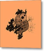 Elephant In Outer Space Metal Print