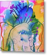 Elephant In The Jungle Metal Print