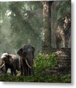Elephant Kingdom Metal Print