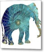 Elephant Maps Metal Print