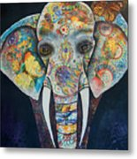 Elephant Mixed Media 2 Metal Print