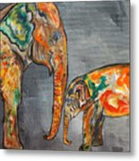 Elephant Play Day Metal Print