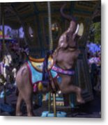 Elephant Ride At The Fair Metal Print