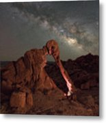 Elephant Rock Milky Way Galaxy Metal Print