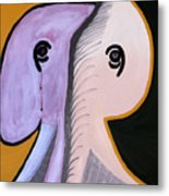 Elephants Are Gray - Sold Metal Print