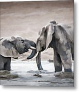 Elephants From Africa Metal Print