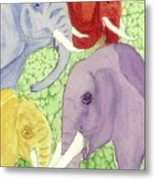 Elephants In The Room Metal Print