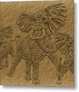 Elephants Three Metal Print