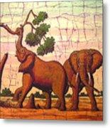 Elephants View Metal Print