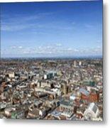 Elevated View Of Blackpool Metal Print