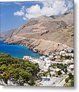 Elevated View Of The Hora Sfakion Metal Print