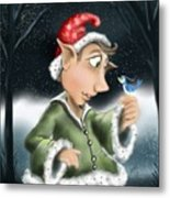 Elf And Bird Metal Print