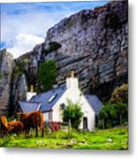 Elgol Cottage, Skye Metal Print