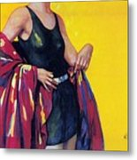 Elida Cremes In Sonne Und See - Woman In Swimsuit - Vintage Advertising Poster Metal Print